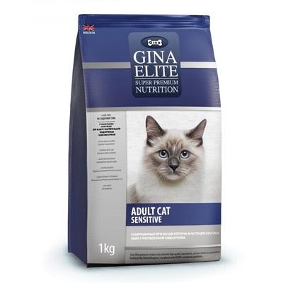 Корм Gina Elite Adult Cat Sensitive для кошек с чувствительным пищеварением