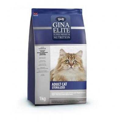 Корм Gina Elite Adult Cat Sterilized для стерилизованных кошек