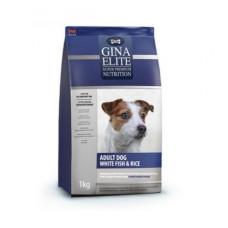 Корм Gina Elite Adult Dog для взрослых собак с белой рыбой и рисом