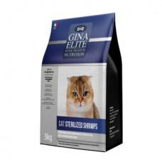 Корм Gina Elite Cat Sterilized Shrimps для стерилизованных кошек с креветками