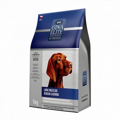 Корм Gina Elite Large Breed Dog для взрослых собак крупных пород с олениной и сельдью