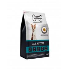 Корм Gina Denmark Cat Active для взрослых кошек с курицей и ягненком