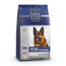 Корм Gina Elite Adult Dog беззерновой для взрослых собак всех пород с уткой, бататом и апельсином