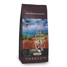 LANDOR Полнорационный корм для взрослых собак всех пород ягненок с бататом