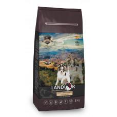 LANDOR Полнорационный корм для взрослых собак мелких пород утка с рисом