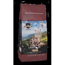 LANDOR Полнорационный корм для стерилизованных кошек с избыточным весом кролик с рисом