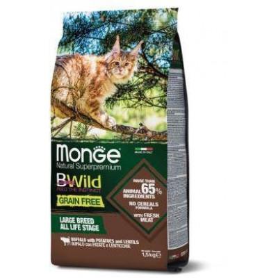 Корм Monge Cat BWild беззерновой из мяса буйвола для крупных кошек всех возрастов