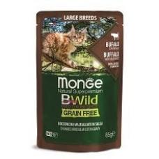 Monge Cat BWild паучи из мяса буйвола с овощами для кошек крупных пород