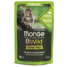 Monge Cat BWild паучи из мяса дикого кабана с овощами для стерилизованных кошек