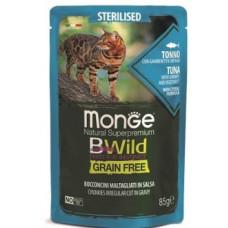 Monge Cat BWild паучи из тунца с креветками и овощами для стерилизованных кошек