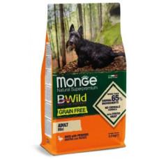 Корм Monge Dog BWild Mini беззерновой из мяса утки с картофелем для взрослых собак мелких пород