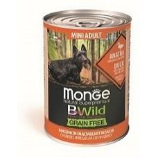 Корм Monge Dog BWild консервы из утки с тыквой и кабачками для собак мелких пород