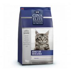 Корм Gina Elite Adult Cat Duck&Rice c уткой и рисом