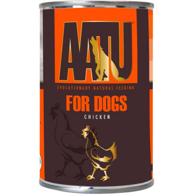 Консервы AATU для взрослых собак с курицей