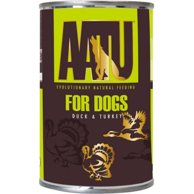 Консервы AATU для взрослых собак с уткой и индейкой