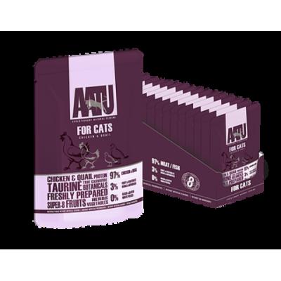 Консервы AATU для кошек с курицей и перепелом