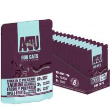 Консервы AATU для кошек с курицей и фазаном