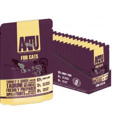 Консервы AATU для кошек с индейкой и гусем