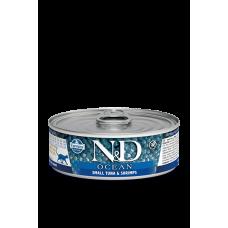 Консервы Farmina N&D для кошек, тунец и креветки