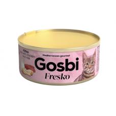 Консервы Gosbi для котят тунец, курица и молоко