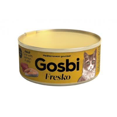 Консервы Gosbi для кошек тунец и лосось