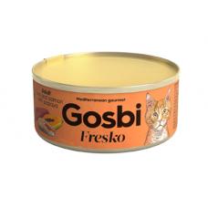 Консервы Gosbi для кошек тунец, лосось и папайя