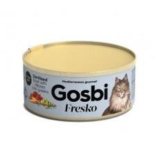 Консервы Gosbi для стерилизованных кошек говядина, курица и зелень