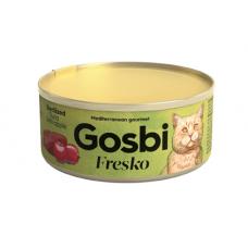 Консервы Gosbi для стерилизованных кошек тунец с яблоком