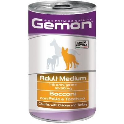 Корм Gemon Dog Medium для собак средних пород с кусочками курицы и индейки