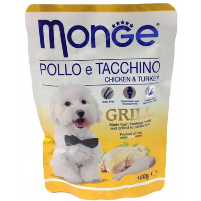 Корм Monge Grill для собак курица с индейкой