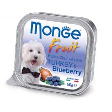 Корм Monge Fruit для собак паштет с индейкой и черникой