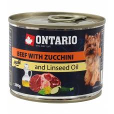 Ontario консервы для собак малых пород с говядиной и цуккини
