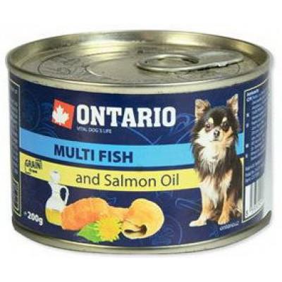 Ontario консервы для собак малых пород рыбное ассорти
