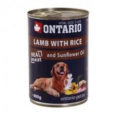 Ontario консервы для собак с ягнёнком и рисом