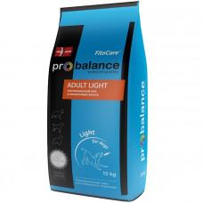 Корм ProBalance для взрослых собак Adult Light облегченный