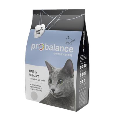 Корм ProBalance для кошек Hair&Beauty для шерсти