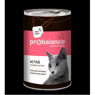 Консервы ProBalance Active для кошек, ведущих активный образ жизни