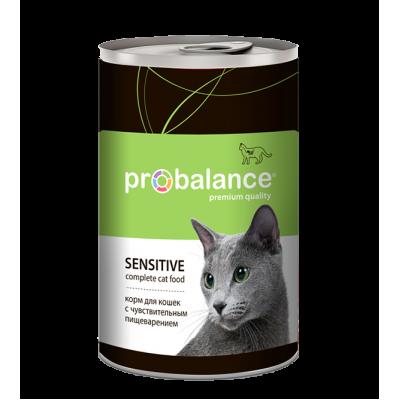 Консервы ProBalance Sensitive для кошек с чувствительным пищеварением
