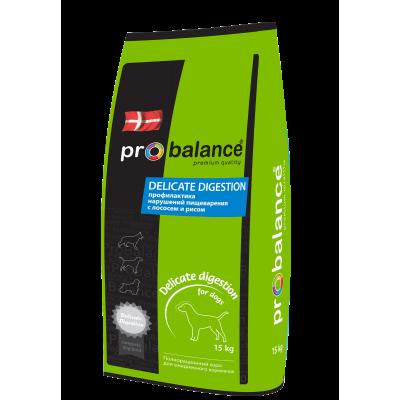Корм ProBalance для собак с чувствительным пищеварением Delicate Digestion с лососем и рисом