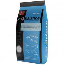 Корм ProBalance для стерилизованных/кастрированных кошек Sterilized