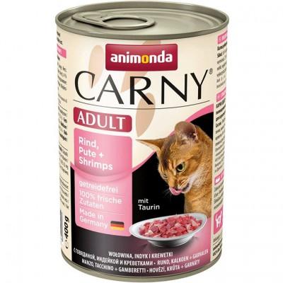 Консервы Animonda для кошек с говядиной, индейкой и креветками