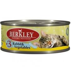Berkley №3 корм для котят с кроликом и овощами