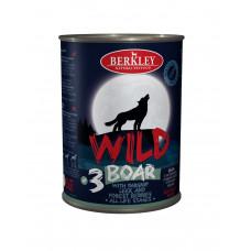 Консервы для собак и щенков Berkley Wild дикий кабан с пастернаком, сладким луком и лесными ягодами №3