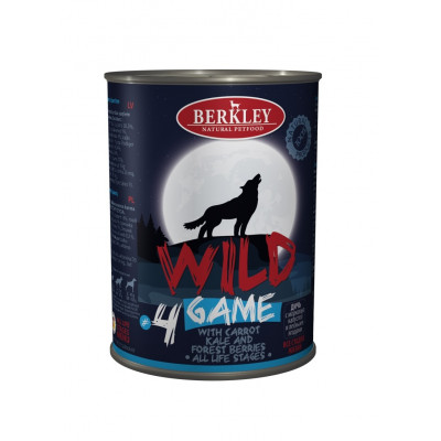Консервы для собак и щенков Berkley Wild дичь с морковью, капустой и лесными ягодами №4