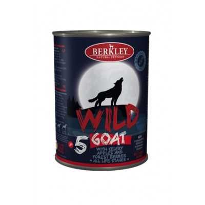 Консервы для собак и щенков Berkley Wild коза с сельдереем, яблоками и лесными ягодами №5