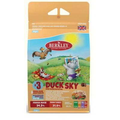 Корм Berkley №3 для собак мелких и средних пород утка с овощами, фруктами и ягодами