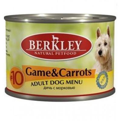 """№10 Консервы для собак """"Дичь с морковью"""""""
