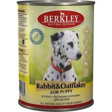 """Консервы для щенков Berkley """"Кролик с овсянкой"""""""