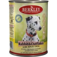 """Консервы для собак Berkley """"Кролик с овсяными хлопьями"""""""