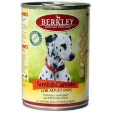 """Консервы для собак Berkley """"Ягненок с морковью"""""""